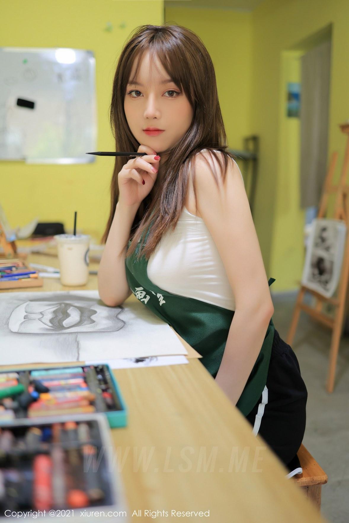 XiuRen 秀人 No.3651 画室主题系列 豆瓣酱 性感写真3 - 2