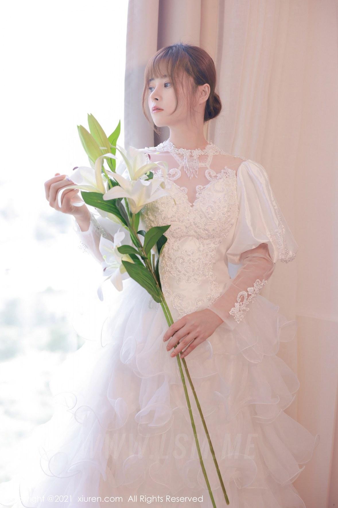XiuRen 秀人 No.3671 白色婚纱系列 奈沐子 性感写真3 - 2