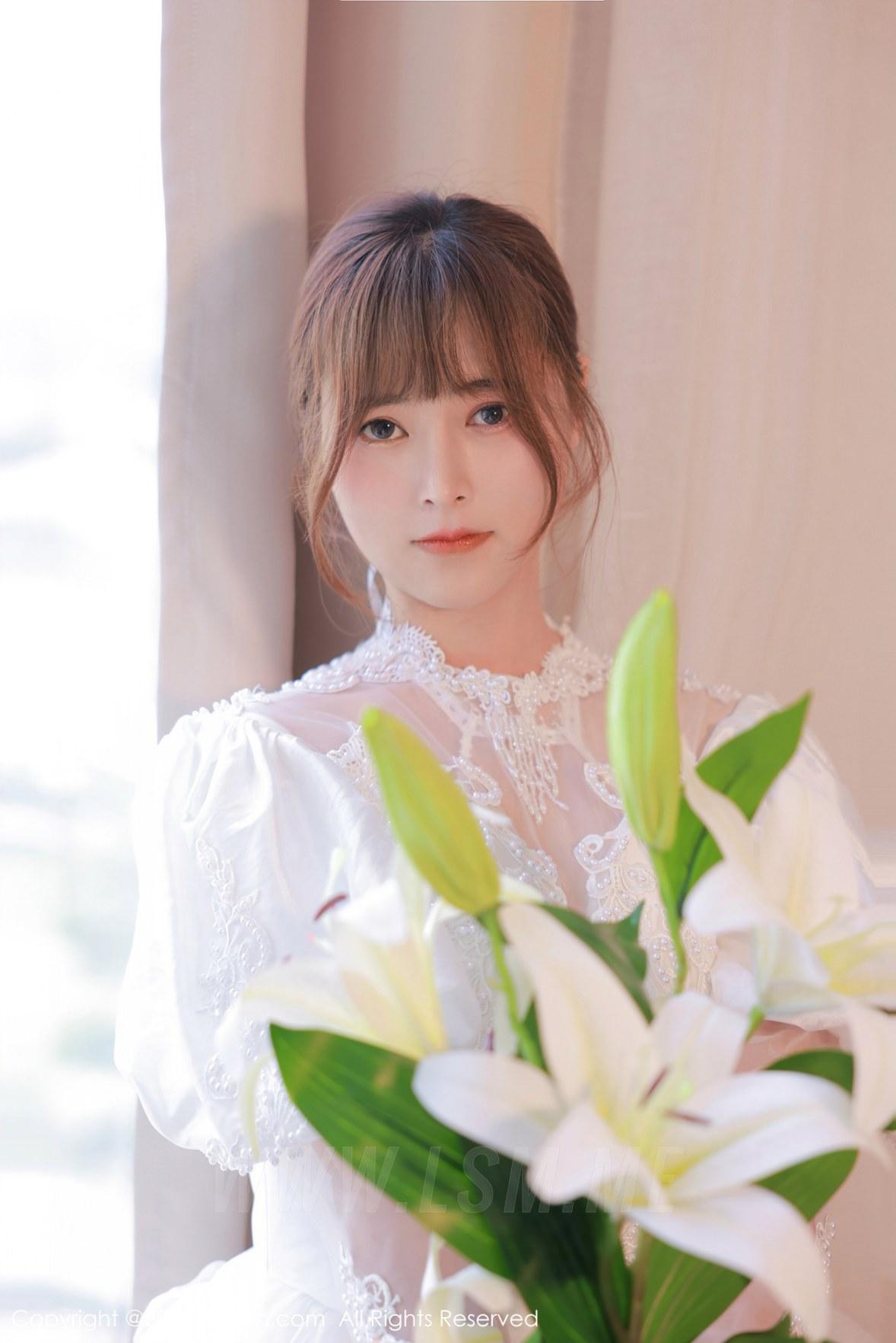 XiuRen 秀人 No.3671 白色婚纱系列 奈沐子 性感写真3 - 3