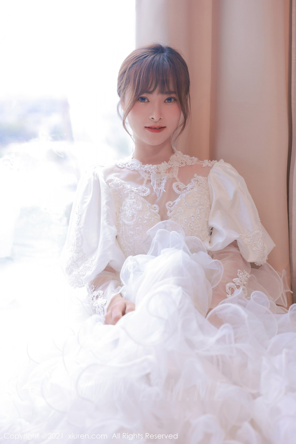 XiuRen 秀人 No.3671 白色婚纱系列 奈沐子 性感写真3 - 4