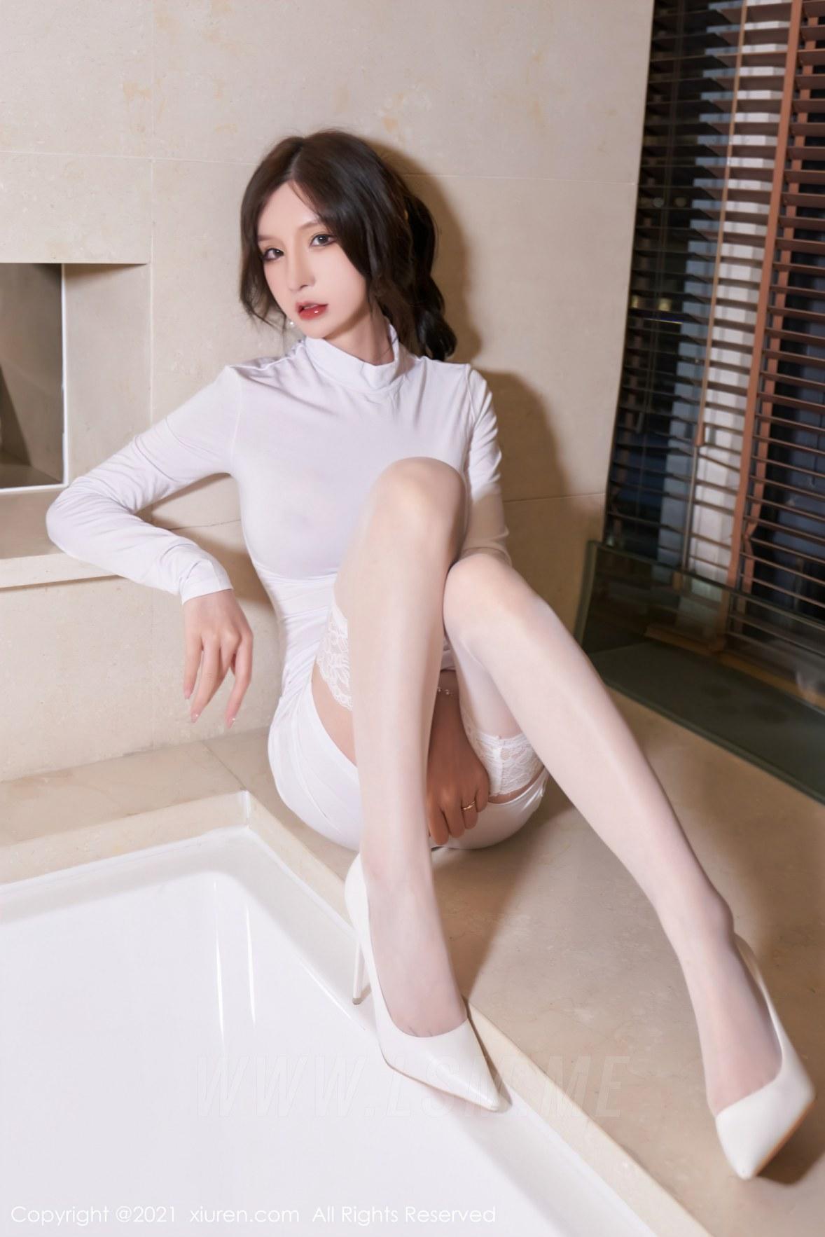 3680 030 p0c 3603 5400 - XiuRen 秀人 No.3680 浴室蕾丝袜 周于希Sandy 性感写真111 - 秀人网 -【免费在线写真】【丽人丝语】