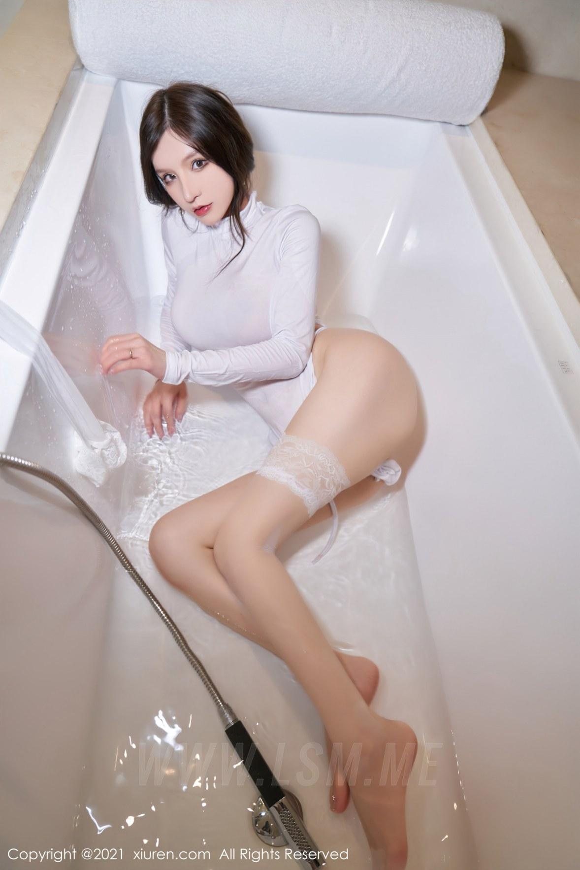 3680 093 ols 3603 5400 - XiuRen 秀人 No.3680 浴室蕾丝袜 周于希Sandy 性感写真111 - 秀人网 -【免费在线写真】【丽人丝语】