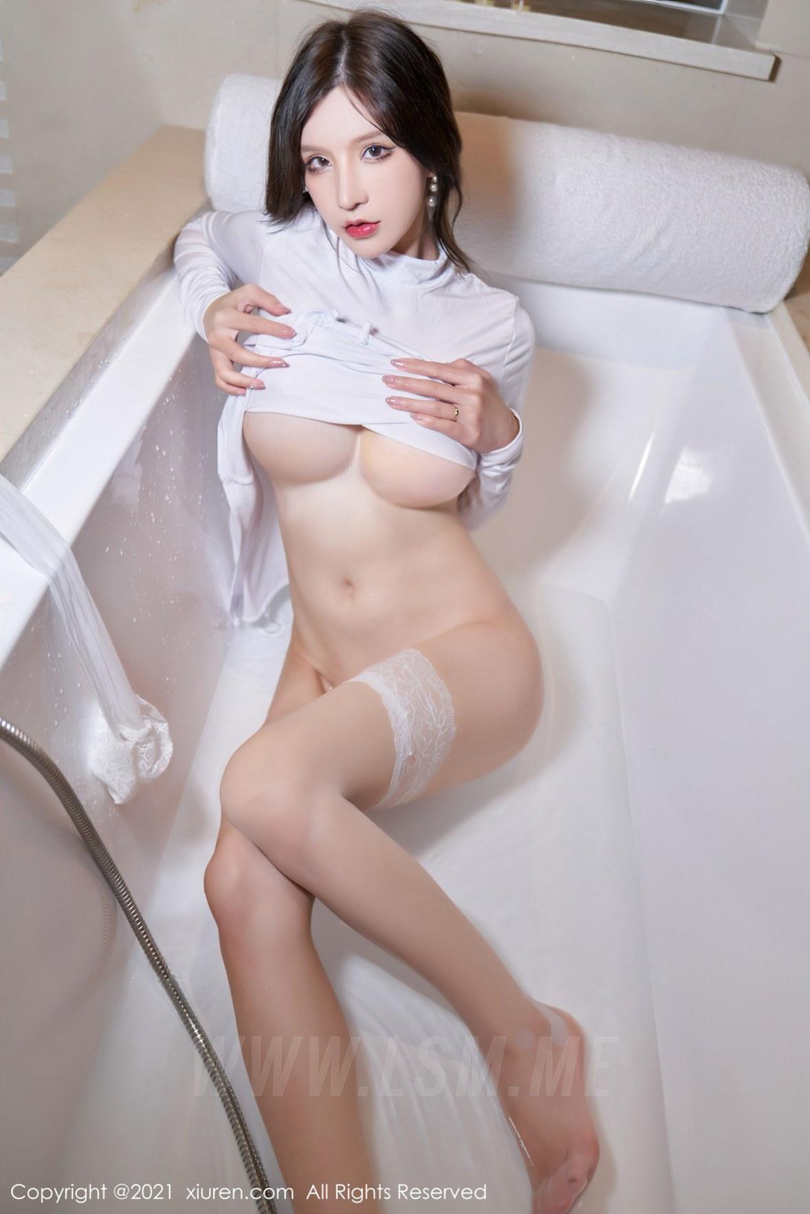3680 094 qso 3603 5400 - XiuRen 秀人 No.3680 浴室蕾丝袜 周于希Sandy 性感写真111 - 秀人网 -【免费在线写真】【丽人丝语】