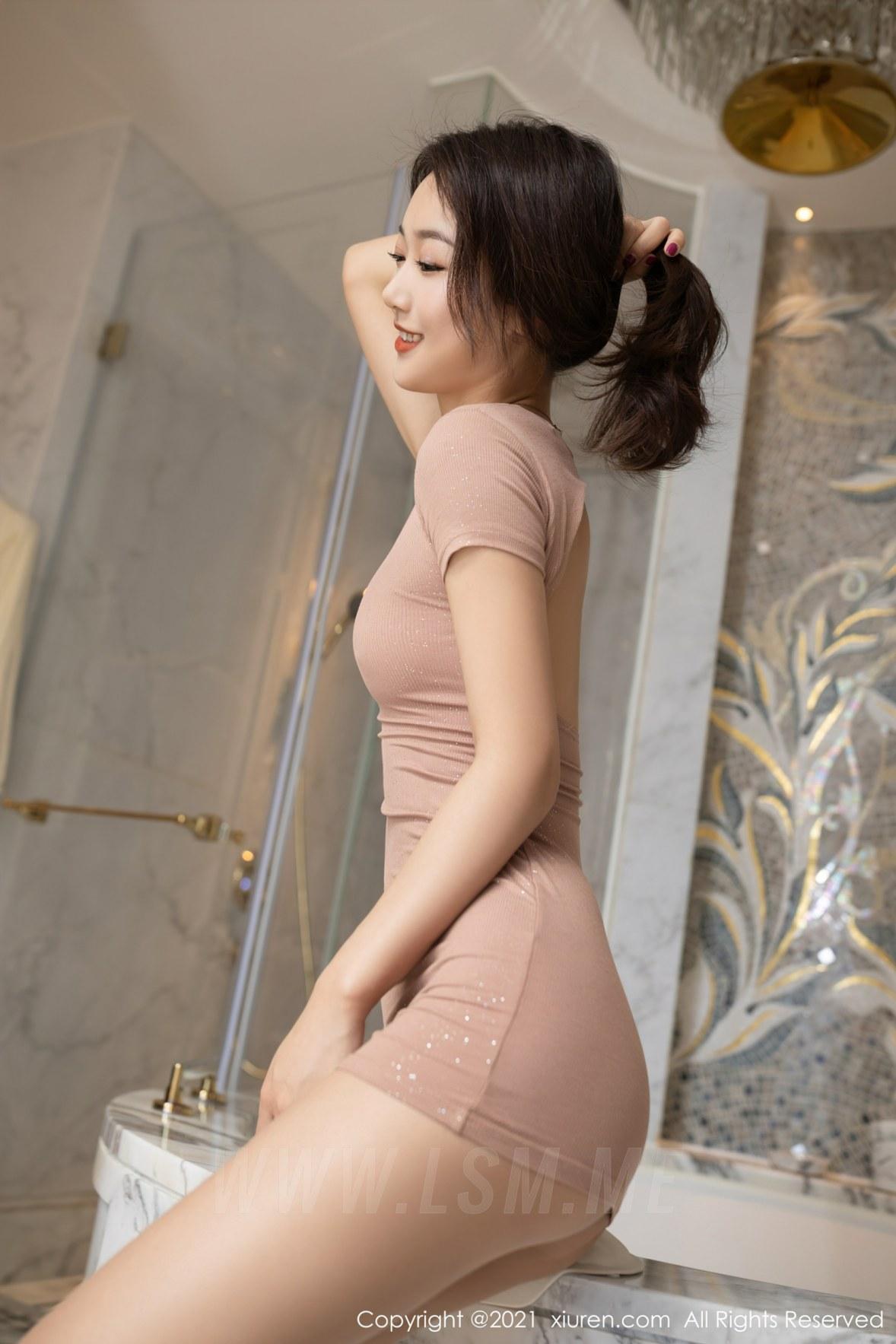 3780 005 bje 3600 5400 - XiuRen 秀人 No.3780 裸色裙主题系列 唐安琪 澳门旅拍写真22 - 秀人网 -【免费在线写真】【丽人丝语】