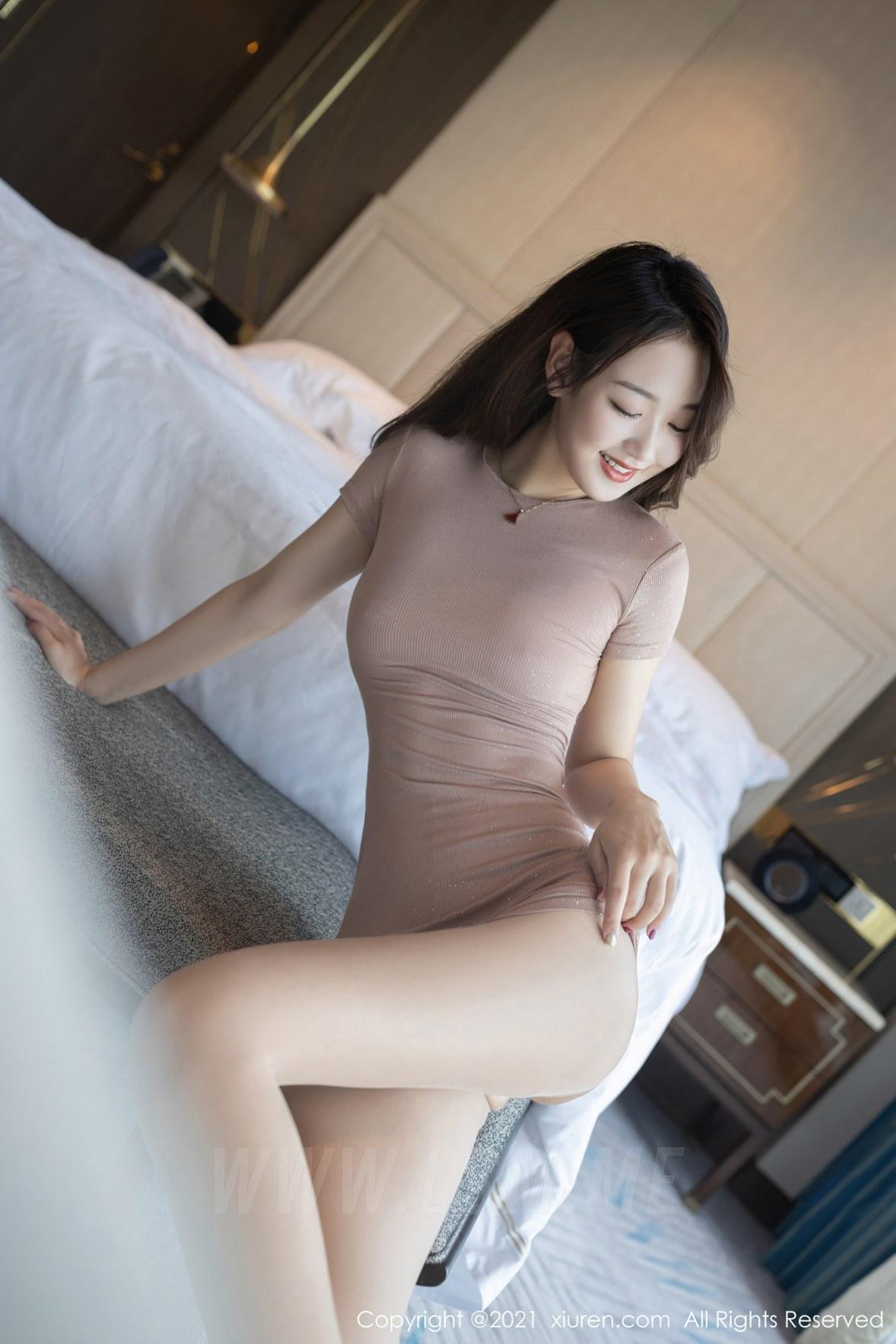 3780 028 kq5 3600 5400 - XiuRen 秀人 No.3780 裸色裙主题系列 唐安琪 澳门旅拍写真22 - 秀人网 -【免费在线写真】【丽人丝语】