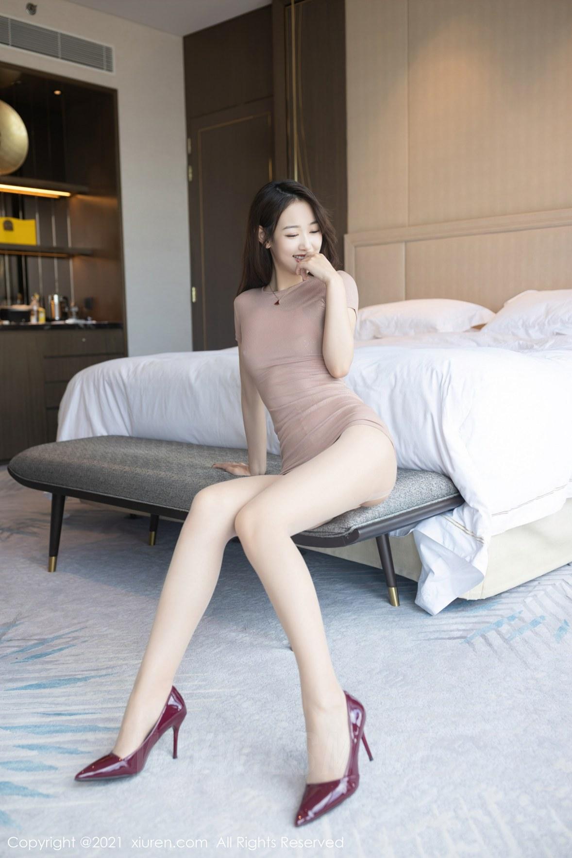 3780 030 8vl 3600 5400 - XiuRen 秀人 No.3780 裸色裙主题系列 唐安琪 澳门旅拍写真22 - 秀人网 -【免费在线写真】【丽人丝语】