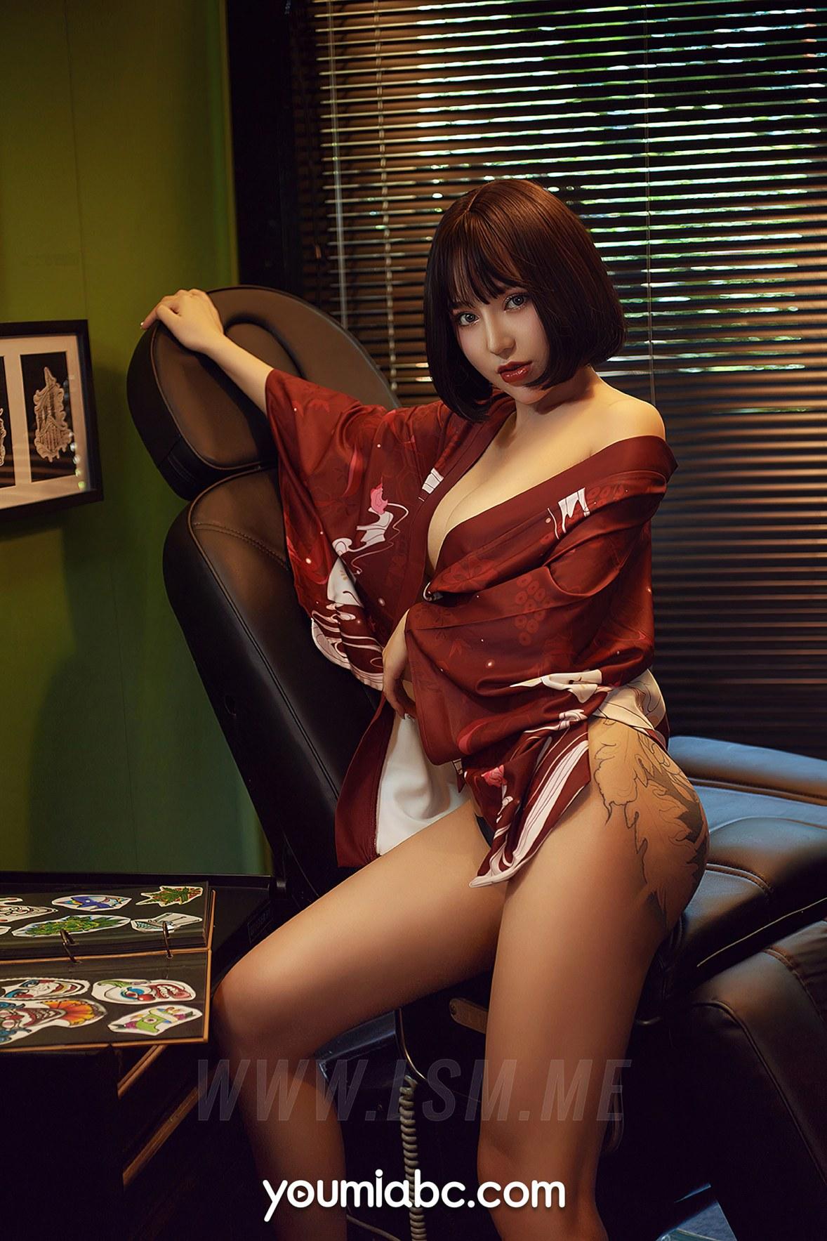 YOUMEI 尤美  安妮斯朵拉 纹身玉体妹子 - 2