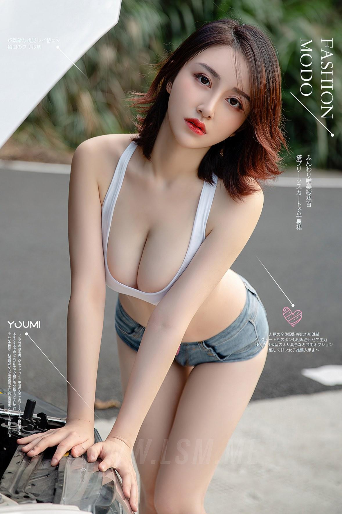 YOUMEI 尤美  沈善熙 爆乳车模 - 1