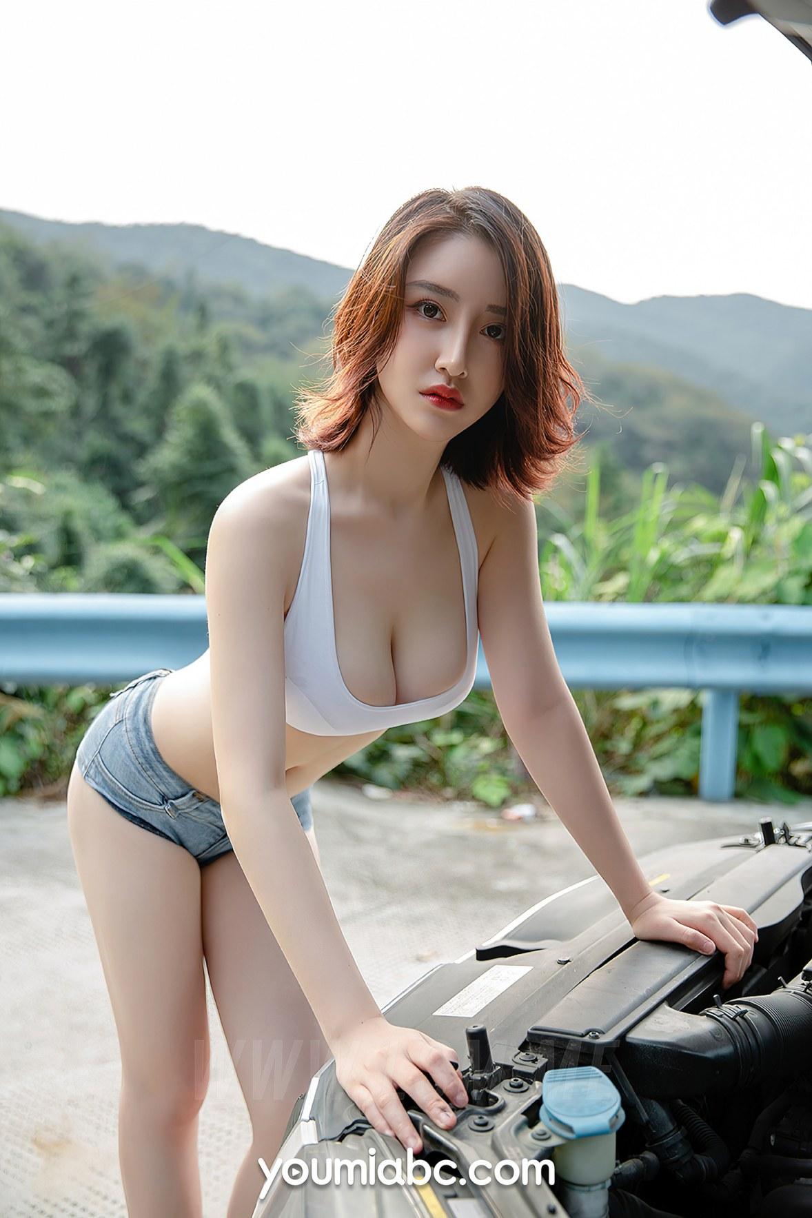 YOUMEI 尤美  沈善熙 爆乳车模 - 3