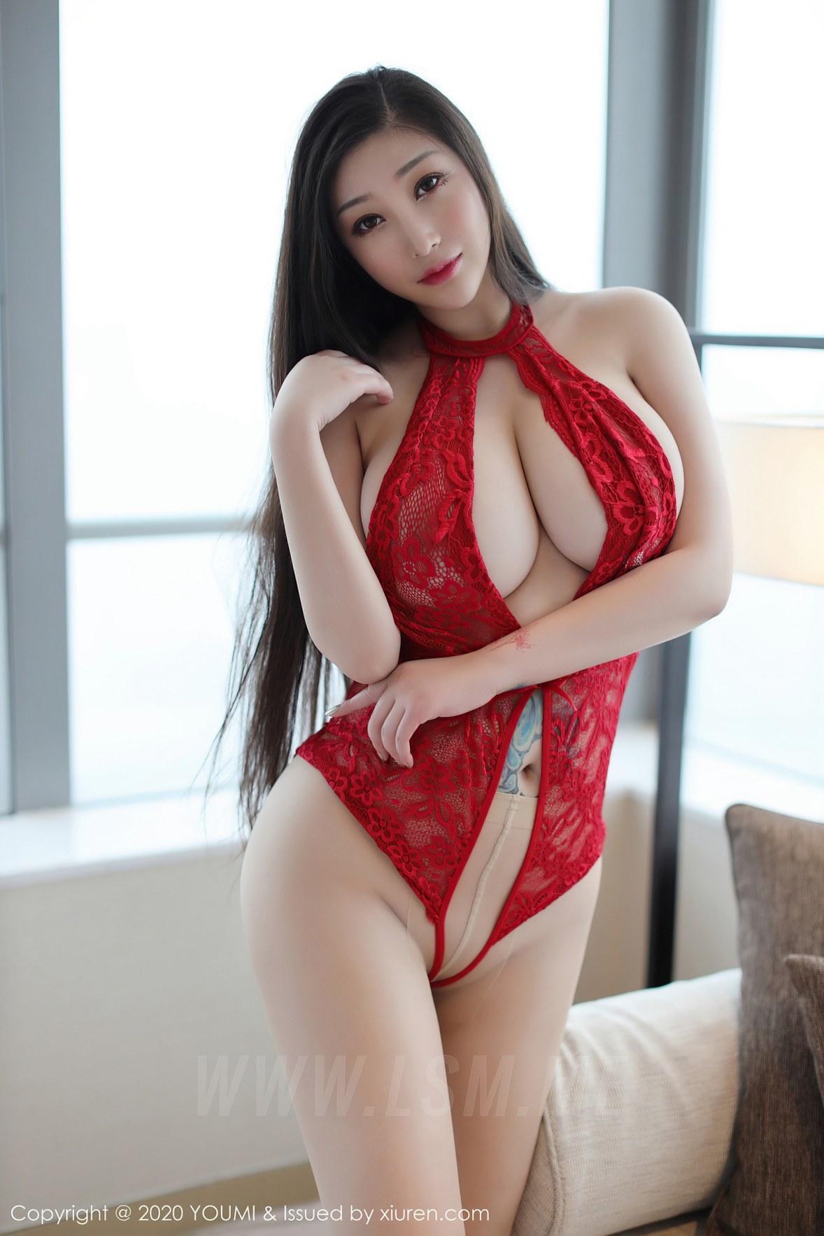 YOUMI 尤蜜荟 Vol.486 妲己_toxic 巨乳蕾丝连体衣 - 1