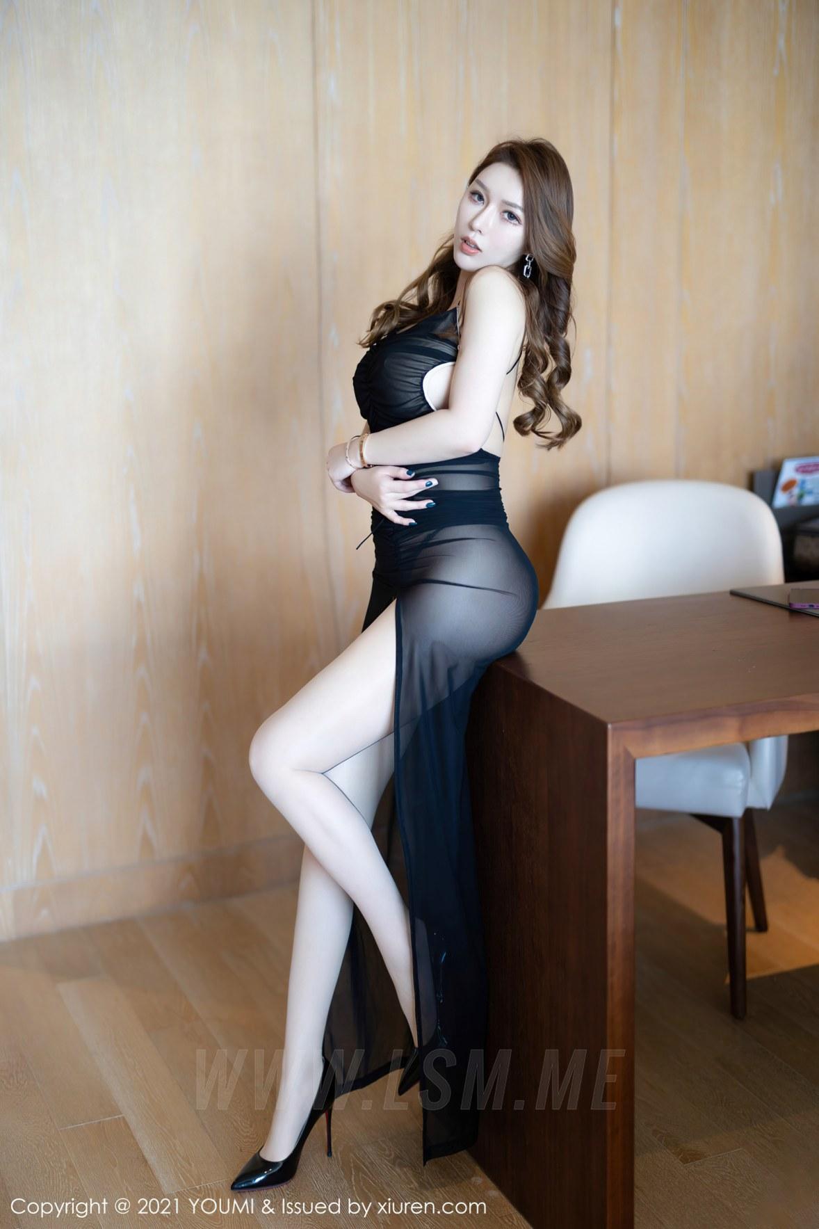 YOUMI 尤蜜荟 Vol.583 熟女翘臀 尤妮丝 薄透魅惑 - 3