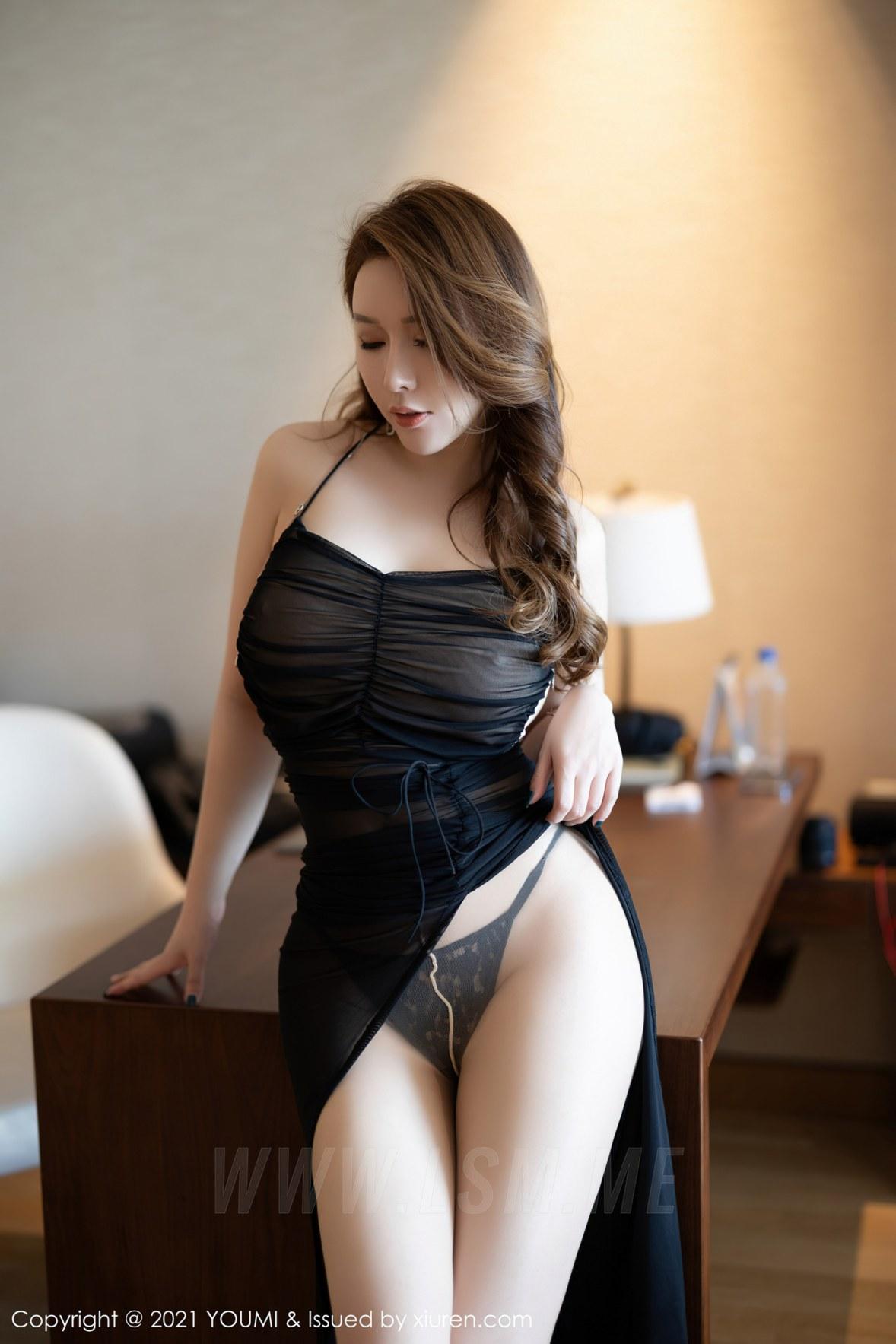 YOUMI 尤蜜荟 Vol.583 熟女翘臀 尤妮丝 薄透魅惑 - 4