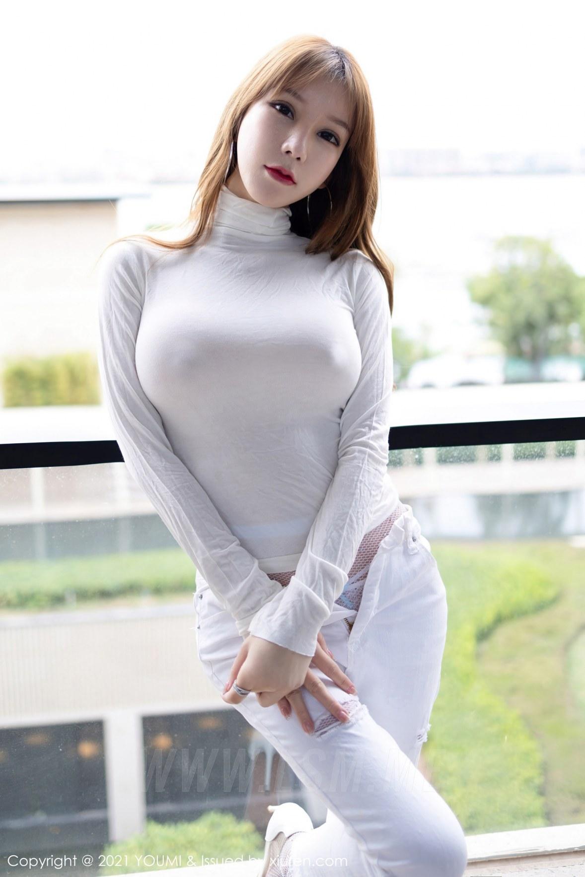 YOUMI 尤蜜荟 Vol.589 真空毛衣魅惑网袜 周于希 - 3