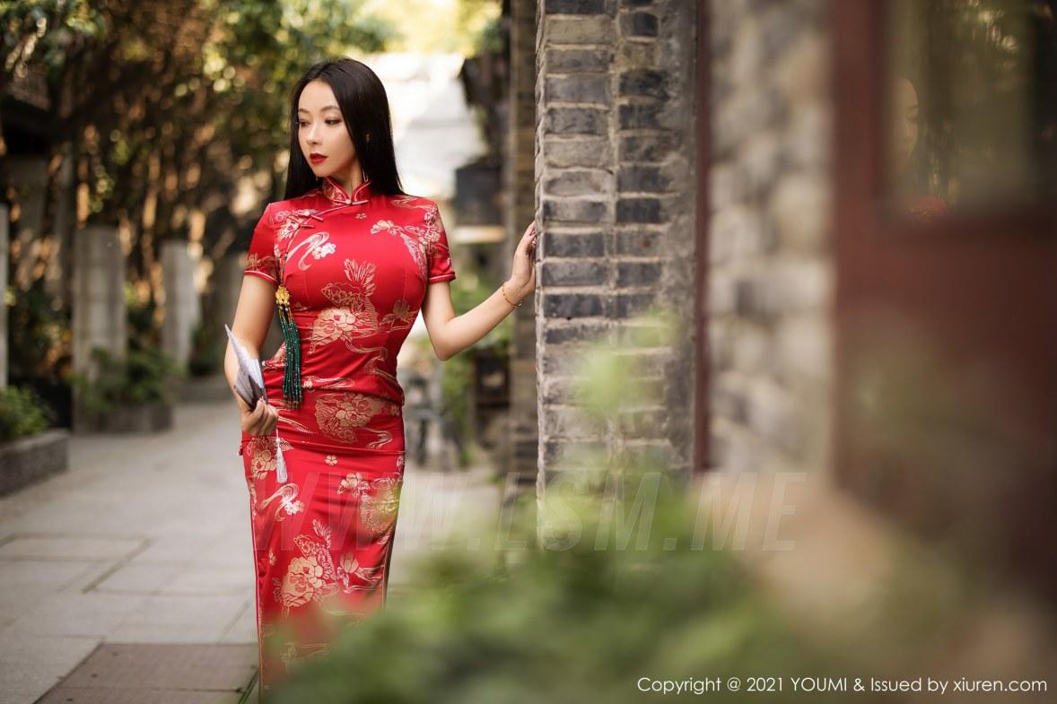 YOUMI 尤蜜荟 Vol.598 韵味旗袍 果儿 - 2