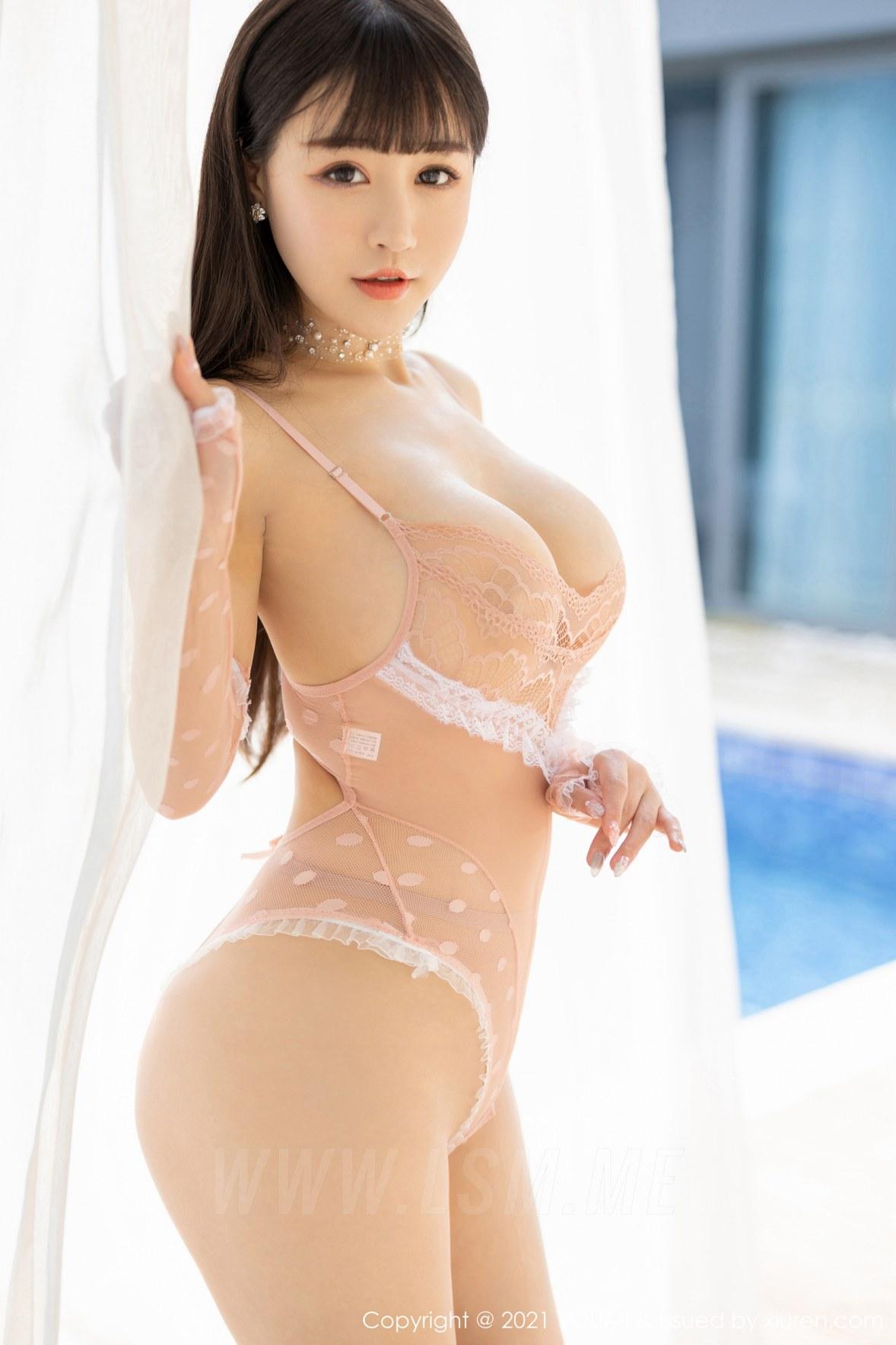 YOUMI 尤蜜荟 Vol.624 细腻粉色镂空服饰 朱可儿Flower 三亚旅拍 - 3