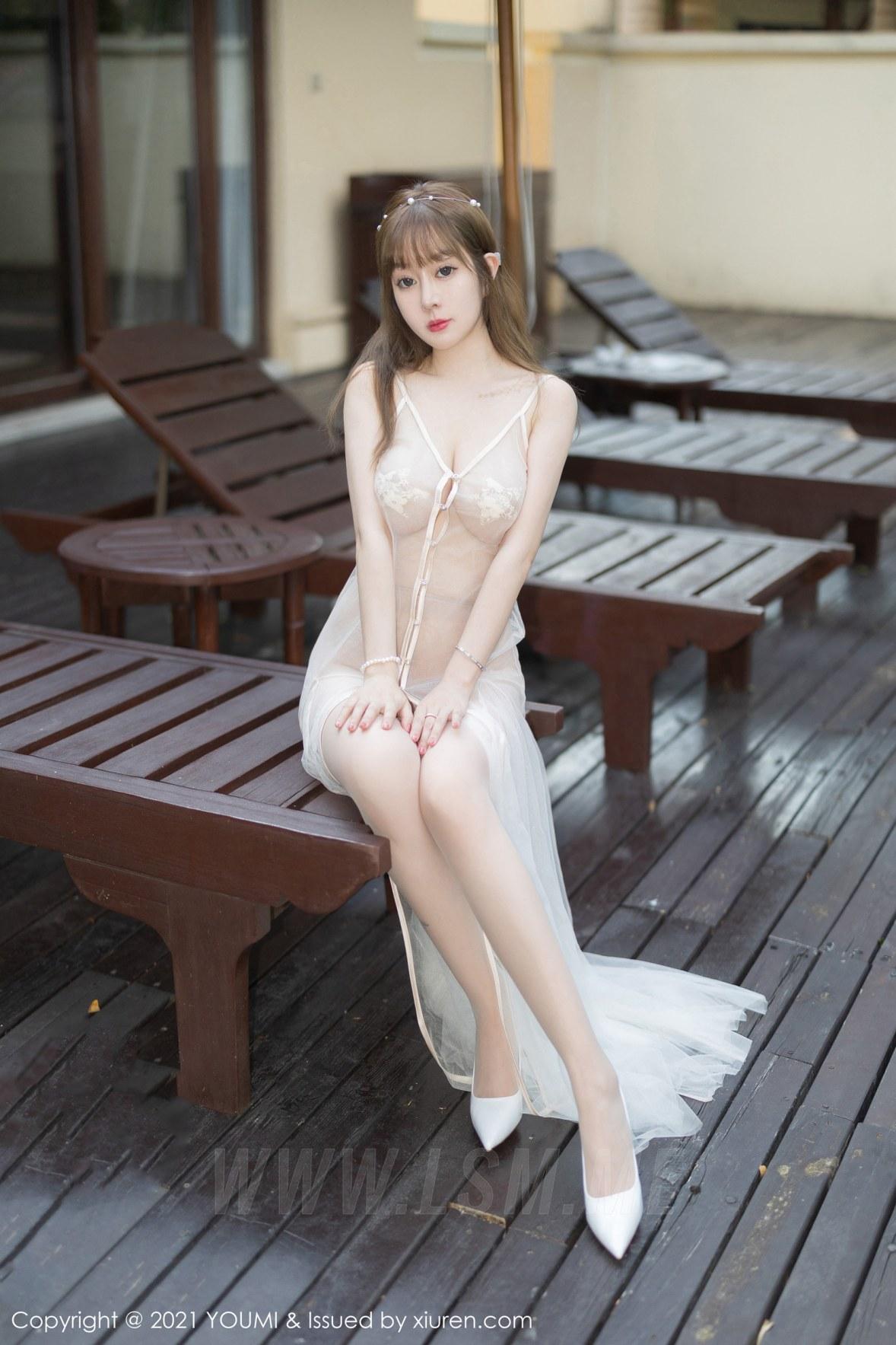 YOUMI 尤蜜荟 Vol.672 轻薄透服饰 王雨纯 西双版纳旅拍2 - 2