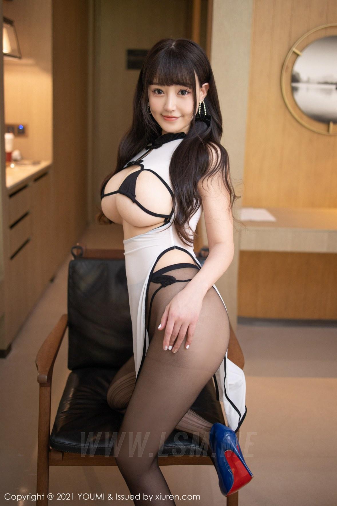 YOUMI 尤蜜荟 Vol.686 白色旗袍 朱可儿Flower 桂林旅拍11 - 4