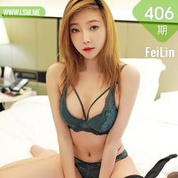 FeiLin 嗲囡囡 Vol.406 黑丝内衣系列 冯木木LRIS 性感写真