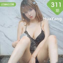 HuaYang 花漾show Vol.311 黑色蕾丝睡衣 周大萌