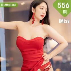 IMiss 爱蜜社 Vol.556 红色抹胸与黑丝 Angela小热巴 性感写真