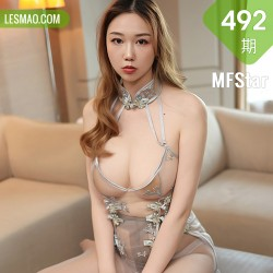 MFStar 模范学院 Vol.492 薄透镂空情趣 芊澄 新人模特 第二套写真