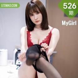 MyGirl 美媛馆 Vol.526 猩红内衣与魅惑黑丝 蔡文钰Abby 性感写真房