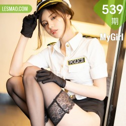 MyGirl 美媛馆 Vol.539 小夕juju 警花制服性感写真1
