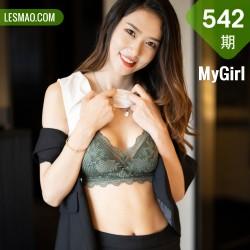 MyGirl 美媛馆 Vol.542 黑丝职业装 方子萱 江浙沪旅拍写真3