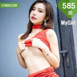 MyGirl 美媛馆 Vol.585 鲜艳红裙+魅惑黑丝 绮里嘉Carina 杭州旅拍111