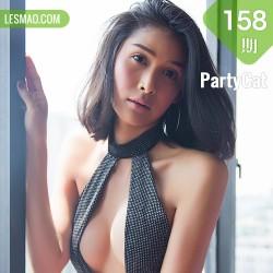 PartyCat 轰趴猫 No.158  Modo 个性美女连体衣爆乳短发美女