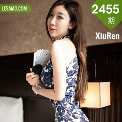XiuRen 秀人 No.2455  victoria志玲 黑丝韵味旗袍