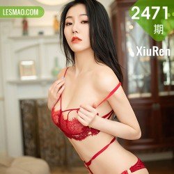 XiuRen 秀人 No.2471 安然maleah 红色内衣主题镂空内衣