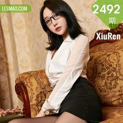 XiuRen 秀人 No.2492  九月生 眼镜秘书ol