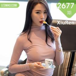 XiuRen 秀人 No.2677  梦心月 粉色礼裙高挑美女