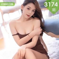 XiuRen 秀人 No.3174  言沫 褐色吊裙美感娇艳