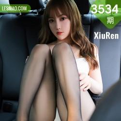 XiuRen 秀人 No.3534 的车拍系列 豆瓣酱 白色吊袜性感写真3