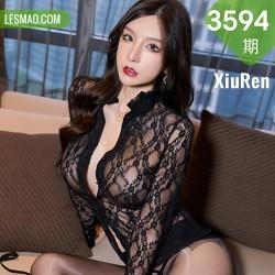 XiuRen 秀人 No.3594 黑色镂空服饰 周于希Sandy 性感写真11