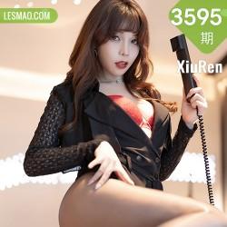 XiuRen 秀人 No.3595 黑丝高跟 芝芝Booty 性感写真33