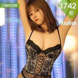 XiuRen 秀人 No.3742 束腰与网袜 奈沐子 性感写真3