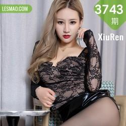 XiuRen 秀人 No.3743 皮裙黑丝 张欣欣 性感写真3