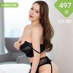 YOUMI 尤蜜荟 Vol.497 蕾丝网袜熟女 尤妮丝egg