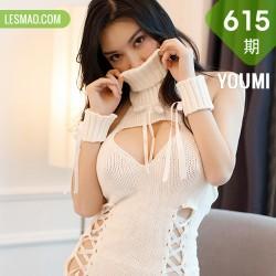 YOUMI 尤蜜荟 Vol.615 巨乳美女 乔漫妮mina 白色镂空内衣性感....